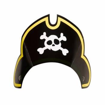8 Piratenkappen aus Karton