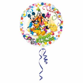Helium Ballon micky Happy Birthday