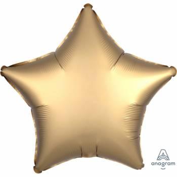 Helium Ballon Satin Luxus Gold Stern