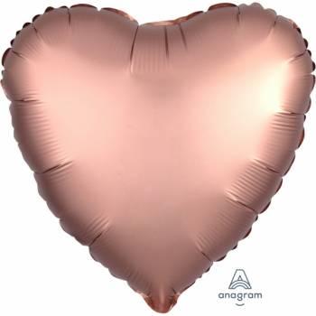 Ballon Helium Satin Luxus gold rosa Herz