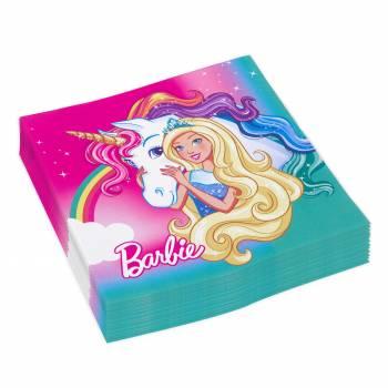 20 Servietten Barbie Einhorn