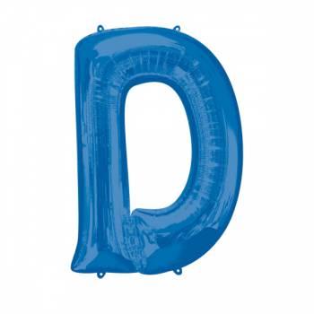 Mega Helium Ballon Buchstabe D blau
