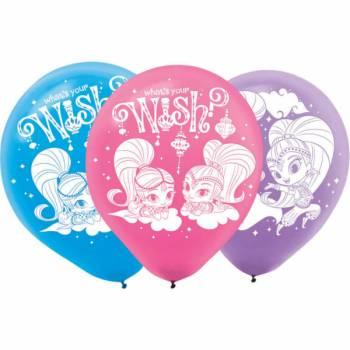 6 Latexballons Shimmer und Shine