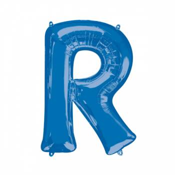 Mega Helium Ballon Buchstabe R blau