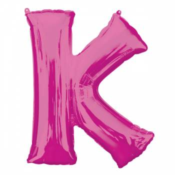 Mega Helium Ballon Buchstabe K fuschia