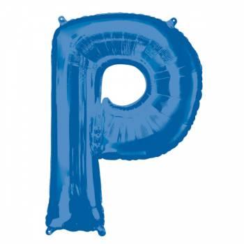 Mega Helium Ballon Buchstabe P blau