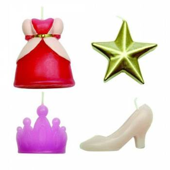 4 Kerze Thema Prinzessin