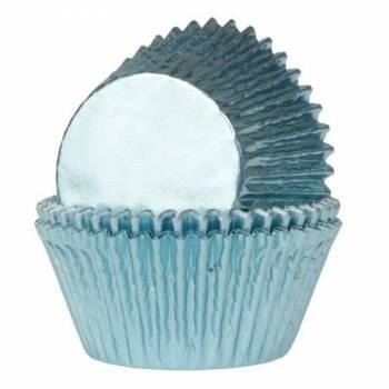 24 Schale Cupcakes Metall blau Baby