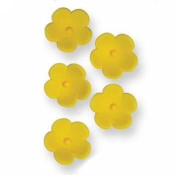 30 Blüten aus Zucker gelb Ø 2cm