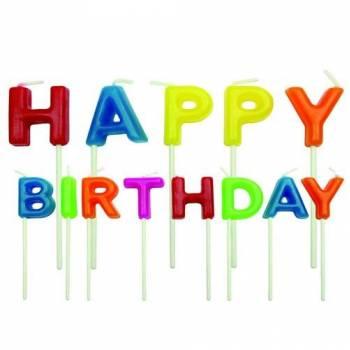 13 Bunte Happy Birthday Pics Kerzen