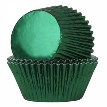 24 Schale Cupcakes Grünes Metall