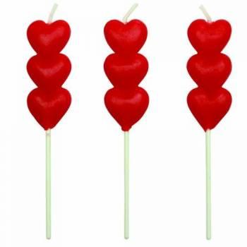 8 Spitzenkerzen Herzen