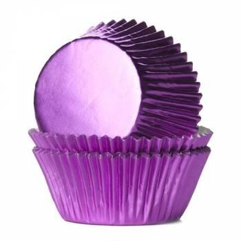 24 Cupcakes backförmchen Fuchsia