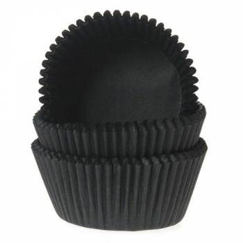 60 Mini-backformchen schwarz cupcakes