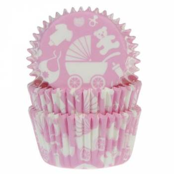 50 Baby Pink backförmchen