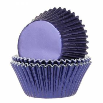 24 Cupcakes Metall Schale blau