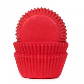 60 Mini-Backformchen Cupcakes rot