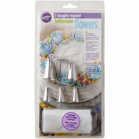 Die Wilton I Taught Myself® Buttercream Flowers ist ein einfacher Weg, um Ihnen beizubringen, wie man schöne Buttercreme Blumen zu...