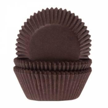 60 Mini-Braune Cupcakes Backformchen