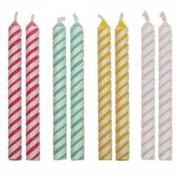 24 Kerze mit passenden Streifen