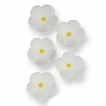 30 Weiße Zucker Blumen Ø 2cm