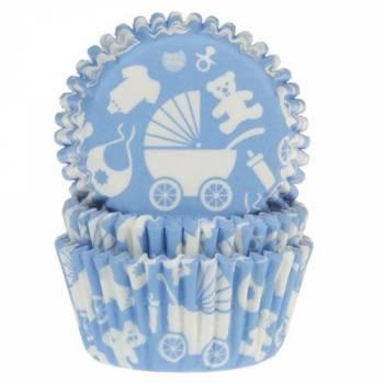 50 Baby-Boxen blau