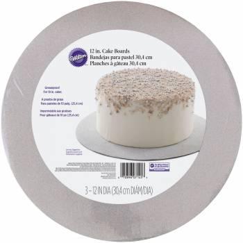 3 Glitzer-Kuchen-Sohle Wilton Silber