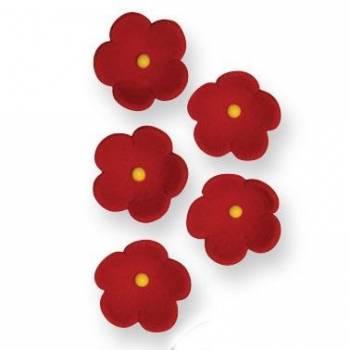 30 Rotes Zuckerblumen Ø 2cm
