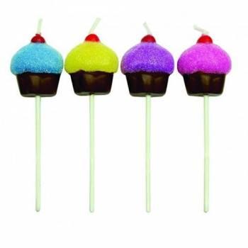 8 Kerze Pics Cupcakes