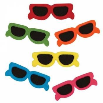 6 Dekore aus Zucker Sonnenbrille KMU