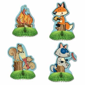 4 woodland tisch dekorationen friends