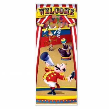 Dekoration der Tür Welcome circus