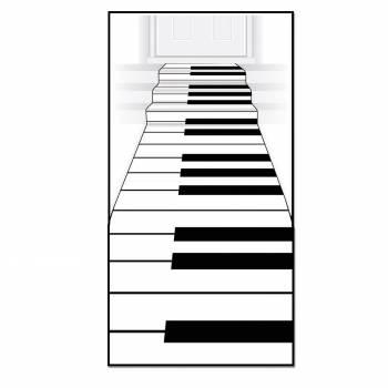 Eingewebte Klaviertastatur Matte