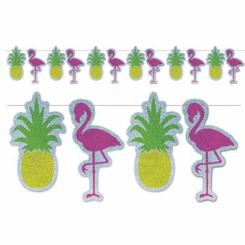 Ananas und Flamingo Hologramm