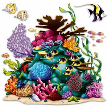Wanddekoration Korallen-Riff