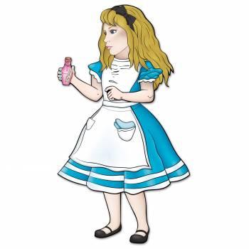 Figur aus Pappe Alice im Wunderland