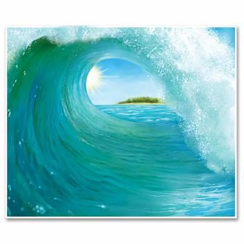 Wanddekoration Surfwelle