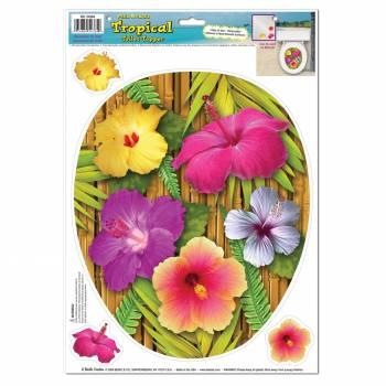 Dekor Bambus-Hibiscus-Dekor selbstklebend