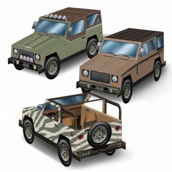 3 Tischdekors 4x4 safari