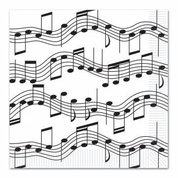16 Servietten Note für Musik