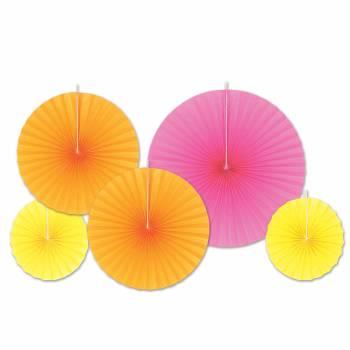 Sortiment 5 Suspensionen Fächer rosa/orange/gelb