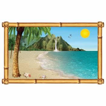 Wand dekorieren Fenster tropischer Strand