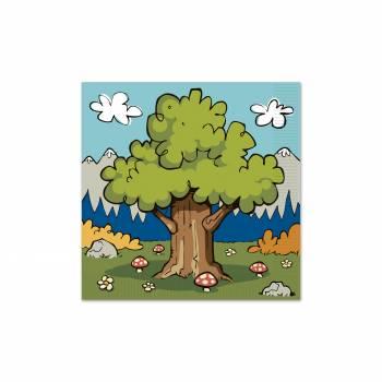 16 woodland friends Servietten