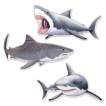 Sortiment 3 Haie aus Karton