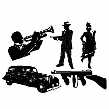 Bühnenbild gangster + Musiker + Auto