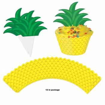 12 Deko für Cupcakes Ananas