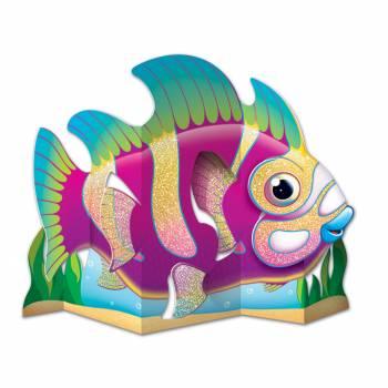 herzstück tishdeko tropischer Glitzerfisch
