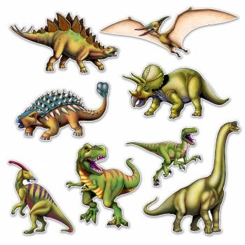 8 Dinosaurier-Dekor