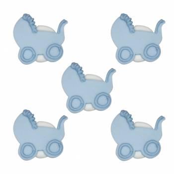 Mini figur zucker kinderwagen blau