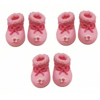 Mini zuker Figuren rosa hausschuhe